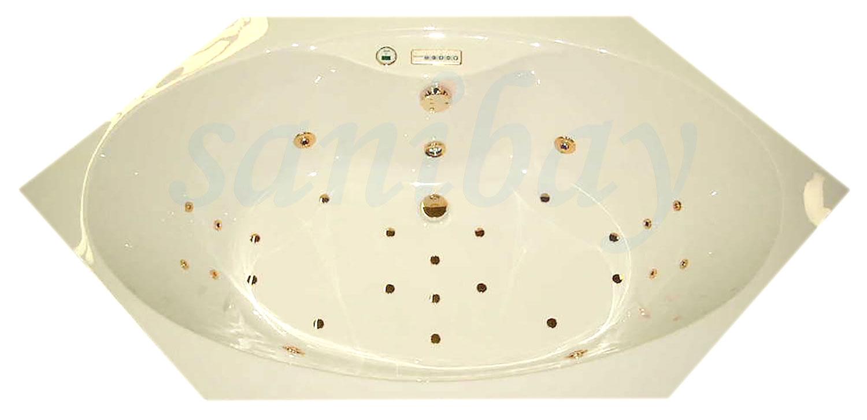 Whirlpool mit goldenen Düsen