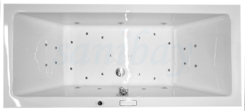 Beispiel 9 Badewanne mit Whirlpool Comfort