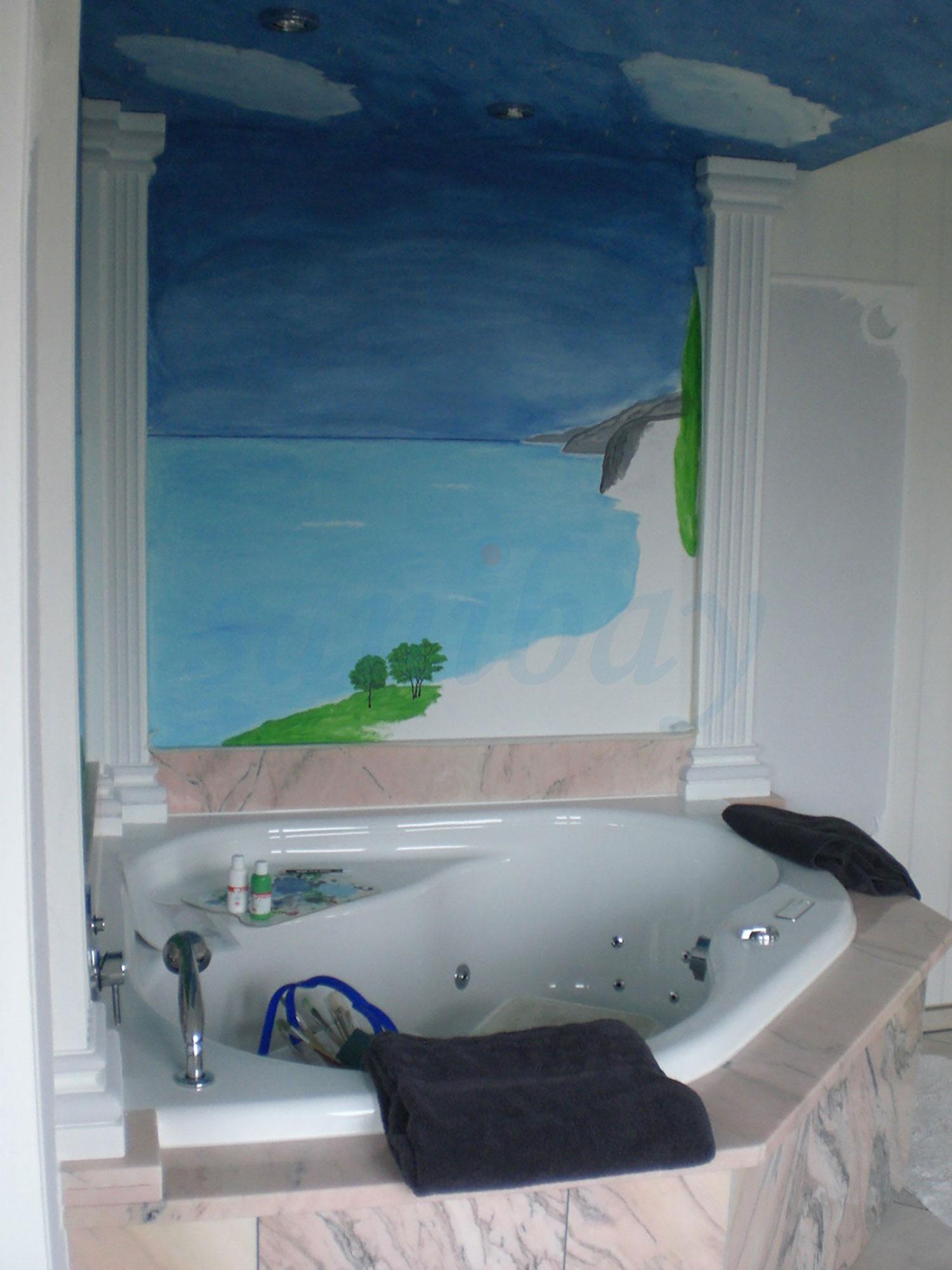 eckwanne mit whirlpool im wellnesstempel. Black Bedroom Furniture Sets. Home Design Ideas